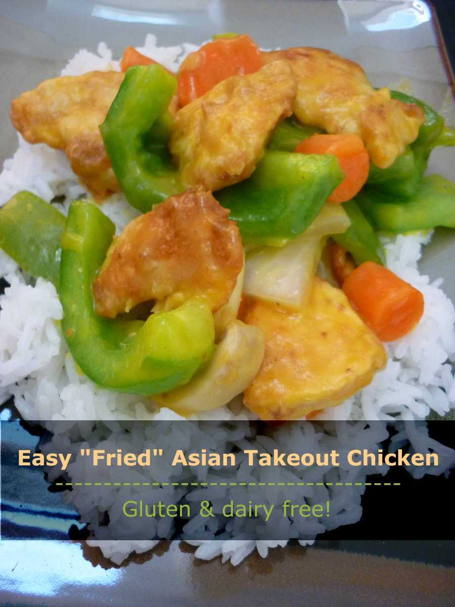 """""""Fried"""" Asian Takeout Chicken. Gluten and dairy free!"""
