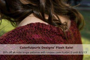 Flash Sale until 8/1/13