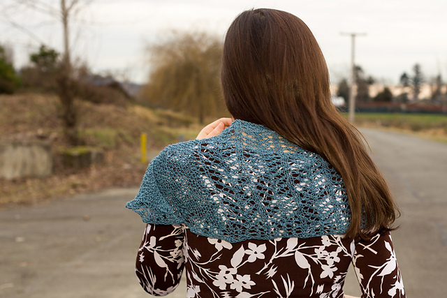 Colorful Skies Shawl by Jessica Bolof