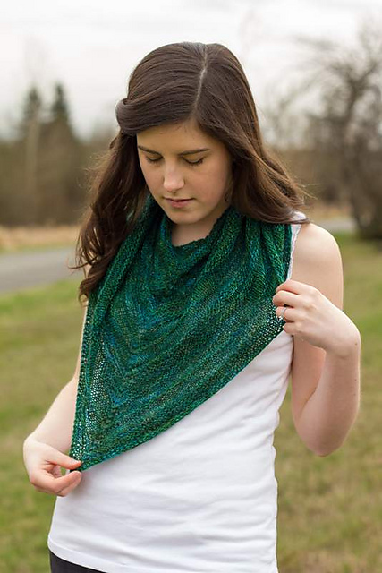 Slightly Purling Shawl by Jessica Bolof