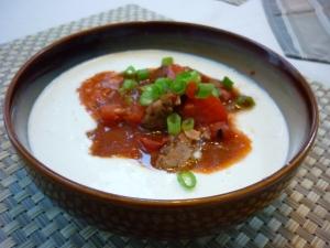 Creamy Garlic Cauliflower with Spicy Southwestern Sausage | Gluten free